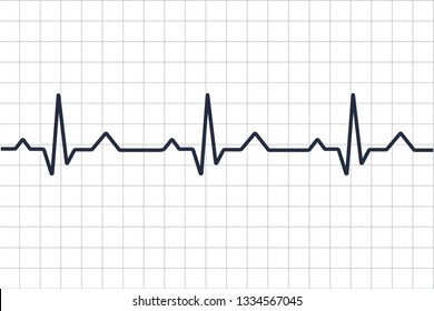 Heart disease cardiogram. Heartbeat line. Cardiogram. Electrocardiogram. Heart pulse monitor with signal