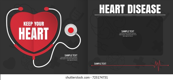 heart disease concept, wold health day vector design