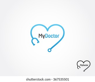 Heart, doctor,medical logo vector icon