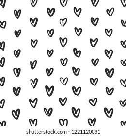Heart doodle pattern set,vector illustration
