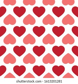 Heart doodles seamless pattern. Valentine's Day patterns.