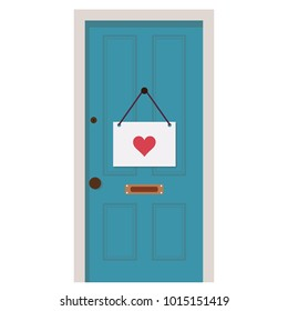 Heart door vector. free space for text. wallpaper. background. mail. heart mail.