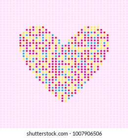 Heart of dots pattern background