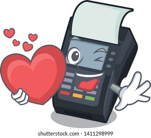 With heart EDC machine in the cartoon shape