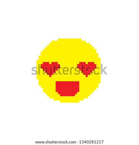 Heart Face Emoji Stock Vector (Royalty Free) 1340281217