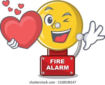 With heart fire alarm with the character shape