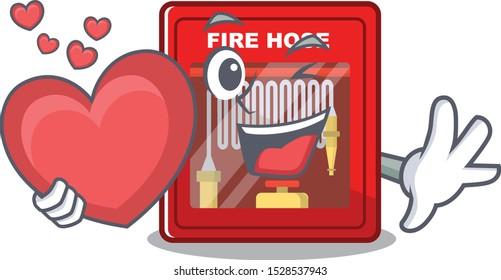 With heart fire hose cabinet with cartoon shape