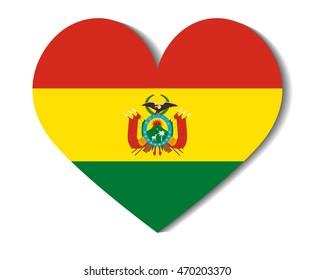heart flag bolivia