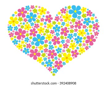 heart flower colorful