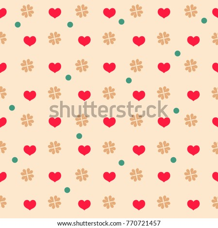 heart flower seamless pattern fashion graphic stock vector royalty