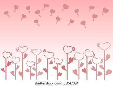 The heart Flowers series vector?Illustration