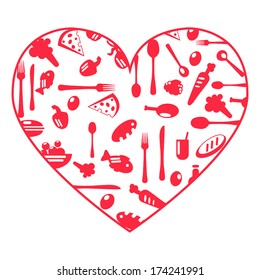 Heart food icons