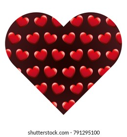 heart frame with hearts pattern background