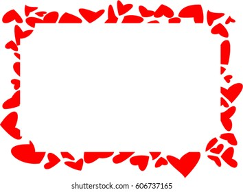 Heart frame on white