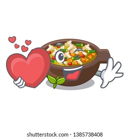 With heart fried minestrone in the cup character