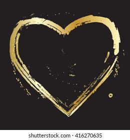 Heart. Heart. Gold Heart. Love. Romantic heart. Gold heart Frame Vector. Calligraphy heart background. Heart frame. Heart Gold. Heart brash. Art, Print, Web, Fashion design. Heart icon. Heart Vintage.
