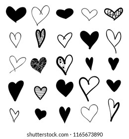 heart hand drawn icons set 260nw 1165673890