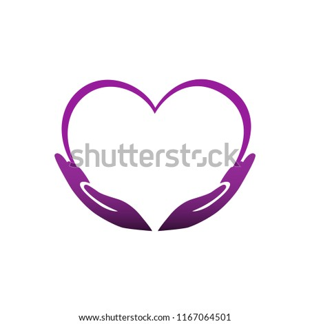 Heart Hands Symbol Love Loyalty Flat Stock Vector Royalty Free