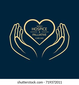 Heart in hands. World Hospice and Palliative Care Day