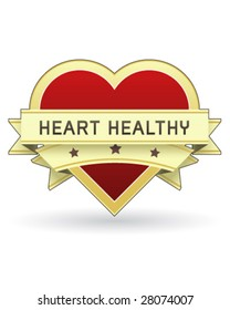 Heart Healthy label or sticker for food and product packaging - vector suitable for web or print use