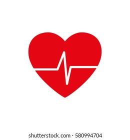 Heart healthy symbol icon vector illustration graphic design