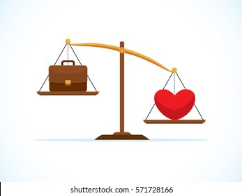 heart is heavier than work in scale balance