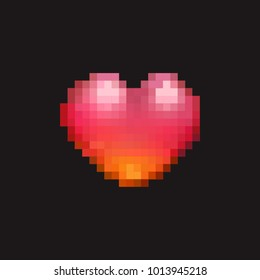 Heart Icon - 8Bit Pixel Art - Mobile Game Graphics Assets