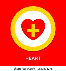 Heart icon with Add sign