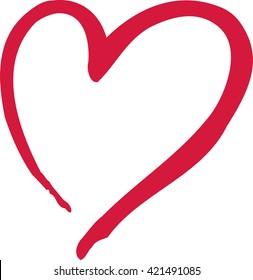 Heart icon caligraphy