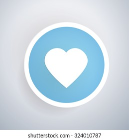 heart icon design on blue 260nw 324010787