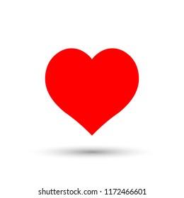Heart icon, flat design template, vector illustration