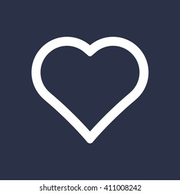 Heart  icon,  isolated. Flat  design.