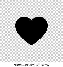 Heart icon isolated on transparent background. Black symbol for your design. Vector illustration, easy to edit.
