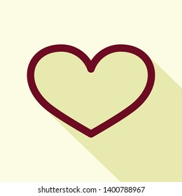 heart icon isolated on white background from miscellaneous collection.