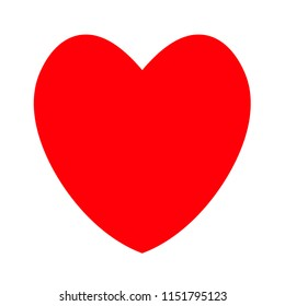 Heart icon isoleated on white background. Heart icon vector.