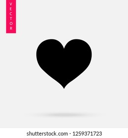 Heart icon, logo on white background