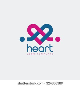 Heart icon, love Icon, connect logo, heart logo, love logo
