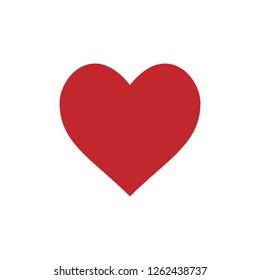 Heart icon love symbol. Vector illustration, flat design.