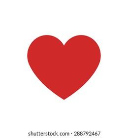 Heart icon, modern minimal flat design style. Vector illustration, love symbol