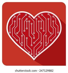 Heart icon PCB LOVE
