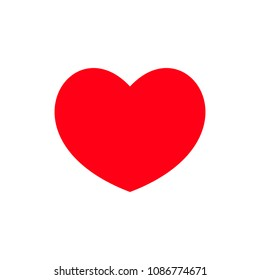 Heart icon. Red heart vector icon. Like icon vector. Instagram like notification