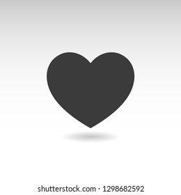 Heart icon with shadow