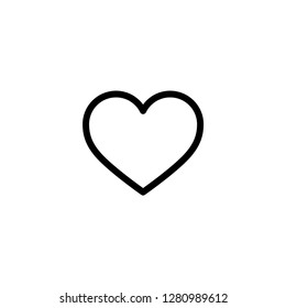 Heart icon. Social media sign