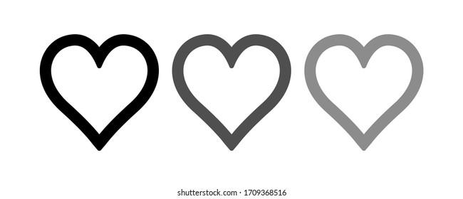 Heart icon stock vector illustration flat design.