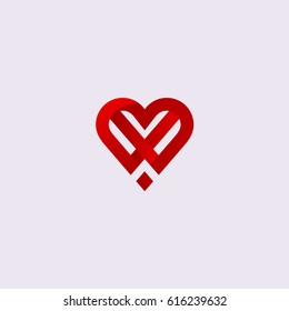 Heart icon symbol, isolated on gray backdrop. Modern valentines day greeting card concept.Thin line medical health sign design.For web site,poster,cover,invitation letter and wallpaper