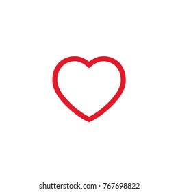 Heart icon, symbol of love, linear vector