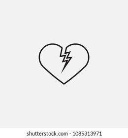 heart icon template design
