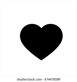Heart icon in trendy flat style isolated on background. Heart icon page symbol for your web site design Heart icon logo, app, UI. Heart icon Vector illustration, EPS10.