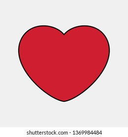 Heart icon valentine day vector
