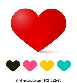 Heart Icon. Vector Hearts. Love Symbol.
